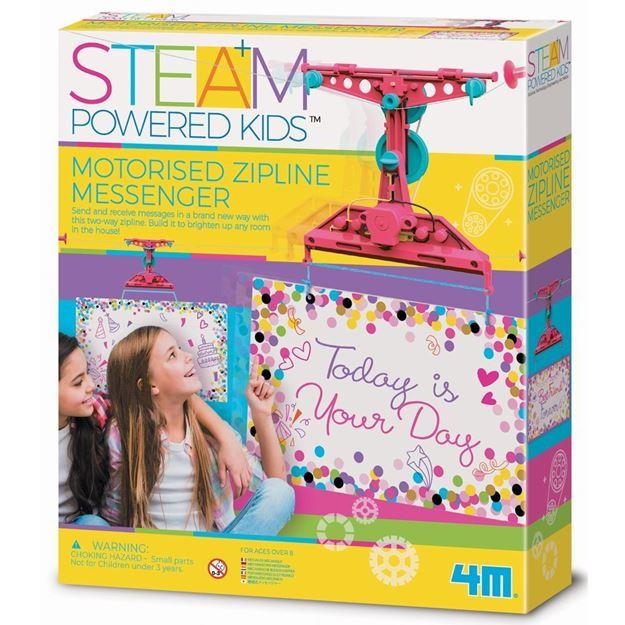 Picture of 4M STEAM Powered Kids - Motorized Zipline Messenger