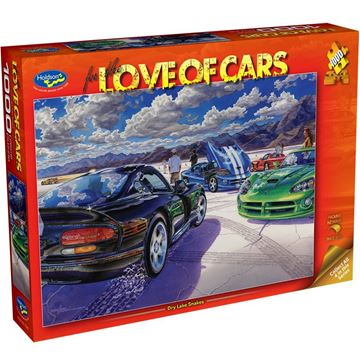 Picture of Holdson Puzzle - For the Love of Cars, 1000pc (Dry Lake Snakes)