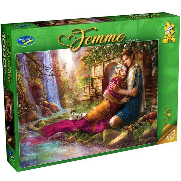 Picture of Holdson Bargain Puzzle - Femme, 1000pc (Secret Garden)