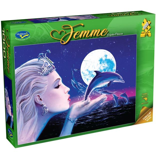 Picture of Holdson Bargain Puzzle - Femme, 1000pc (Dolphin Princess)