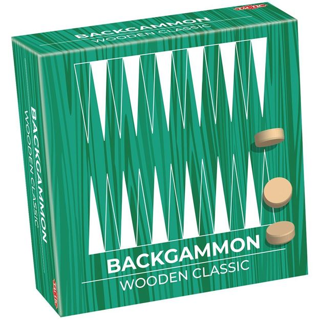 Picture of Wooden Classic Backgammon (Travel Size)