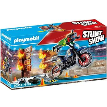Picture of Playmobil - Motorcross with Fiery Wall