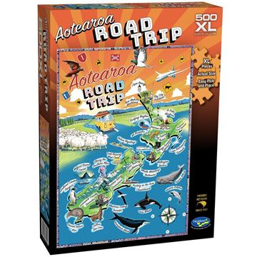 Picture of Holdson Puzzle - NZ Map, 500XL pc (Aotearoa Road Trip)