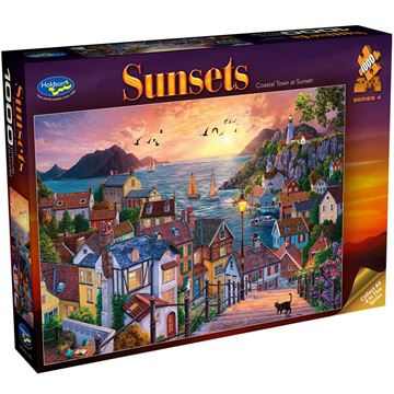 Picture of Holdson Puzzle - Sunsets S4 1000pc (Coastal Town at Sunset)